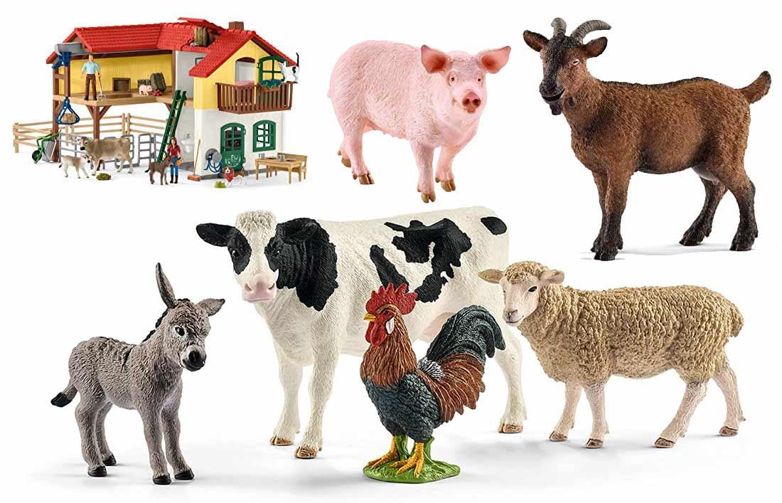 Bauernhof-Tiere-schleich